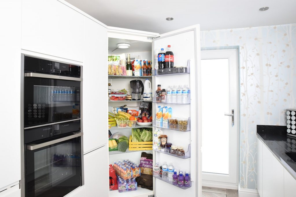 fridge, fridge door, refrigerator